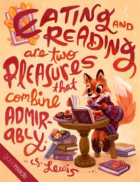 quote  cs lewis eating  reading   pleasures