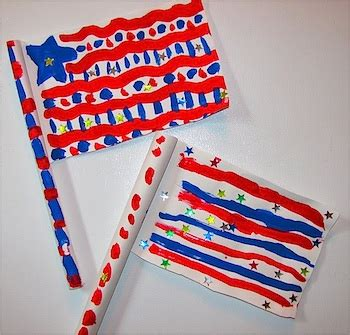How To Make A Paper Flag - simple folded paper flag things to make and do crafts
