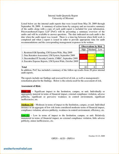 Information System Audit Report Template Unique Internal Audit Report Loan Application Form Information Technology Audit Report Template Word