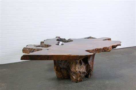 Wood Slab Coffee Table Vintage Burl Wood Slab Coffee Table At 1stdibs