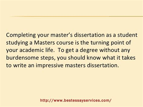 A Masters Dissertation by How To Prepare A Masters Dissertation