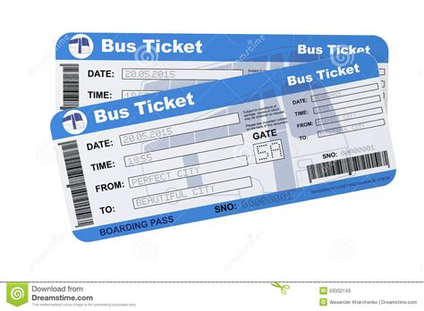 couch tickets bus boarding pass tickets stock illustration image 53332143
