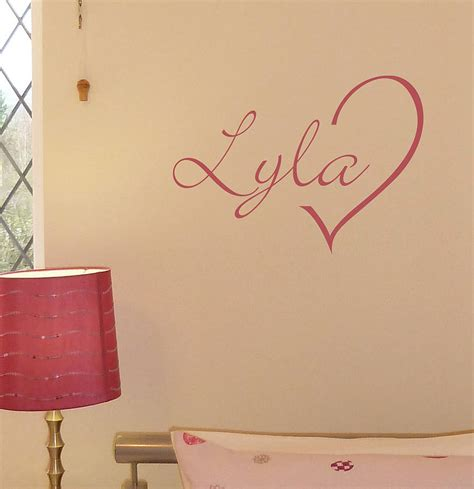 personalized name wall stickers personalised wall sticker by nutmeg notonthehighstreet