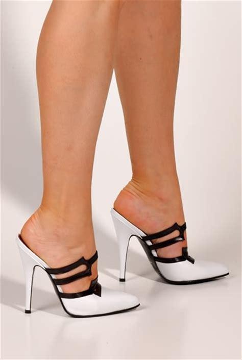 white high heel mules white high heel mules 28 images pleaser high heel