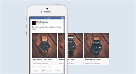 format video facebook ads facebook carousel ads exles