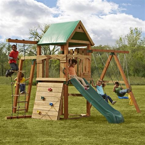swing set kit with slide swing n slide trekker swing set kit by swing n slide