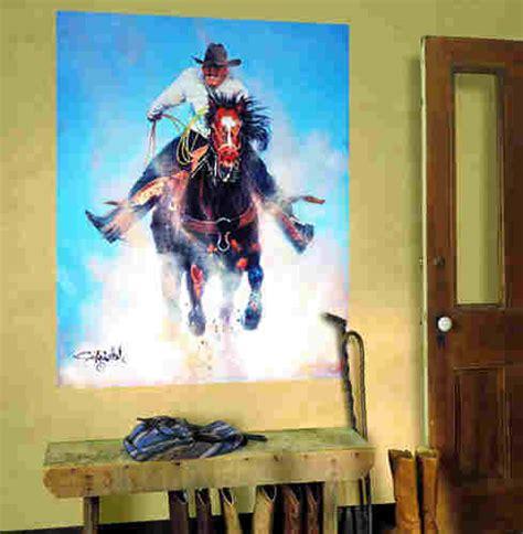 cowboy wall murals cowboy ropin wall mural