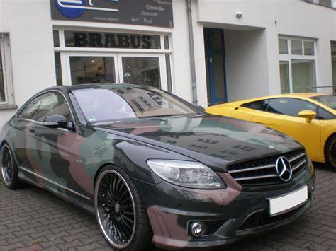 Autofolierung Auf Raten by Mercedes Cl63 Amg Camouflage Benztuning