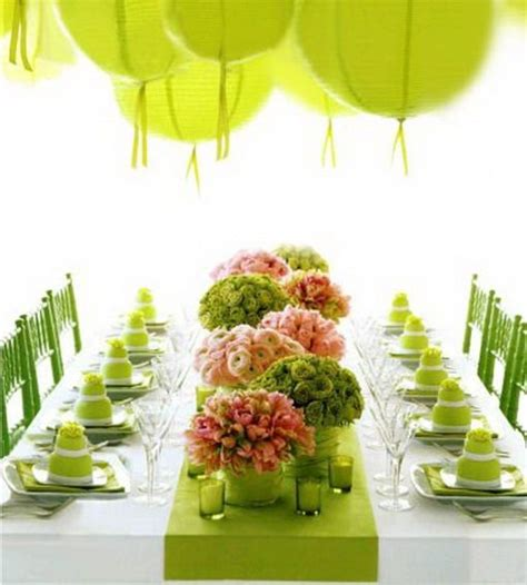 Pink And Green Decorations by Pink And Green Wedding Decor Wedding Anniversary