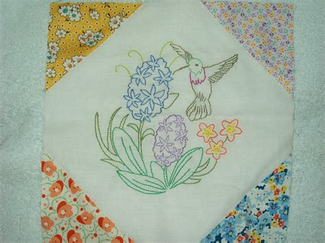 Embroidery Quilt by Embroidered Quilts Blocks On Embroidered