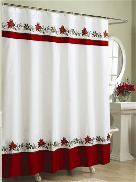 fabric christmas shower curtain embroidered holly fabric christmas shower curtain holiday