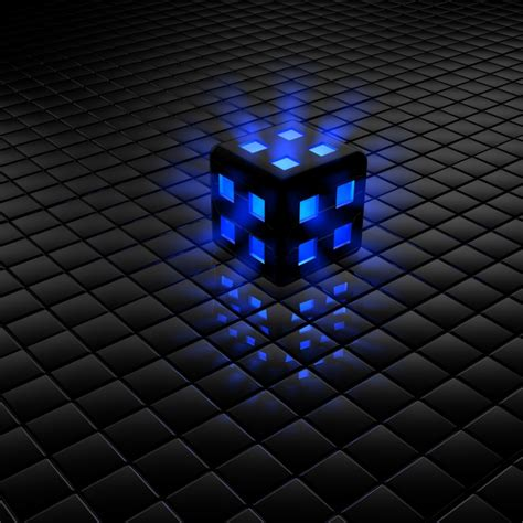 wallpaper blue cube black and blue cube wallpaper 3d 4234907 1024x1024