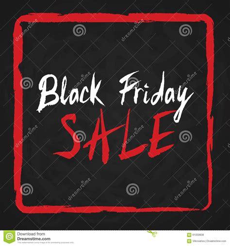 Black Friday Sale Lettering On Chalkboard Stock Vector