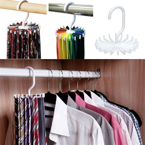 Tie Hooks For Closet by 360 176 Closet Clip Holder Hooks Home Rotating Scarf Tie Belt