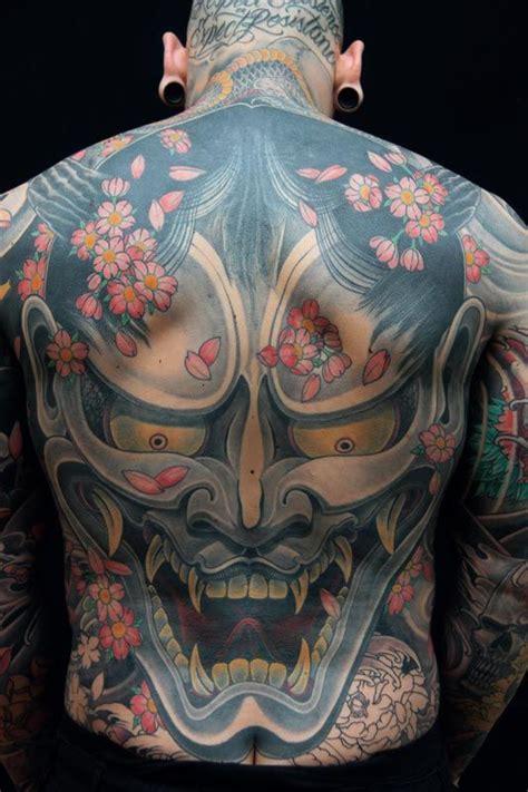 japanese hannya mask back tattoo awesome hannya mask tattoo hannya mask hannya tattoo