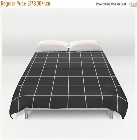 black and white grid pattern duvet cover sale flat 20 off duvet cover grid bedding black and