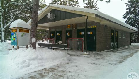comfort station algonquin s mew lake a great choice for first time winter