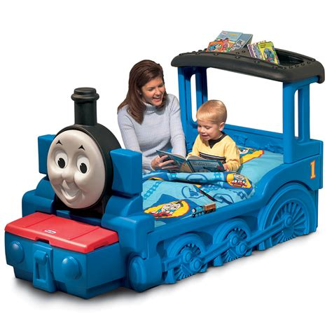thomas the tank engine toddler bed little tikes thomas the tank engine boys blue toddler train bed mattress junior ebay