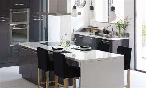 deco cuisine gris d 233 coration cuisine gris et blanc