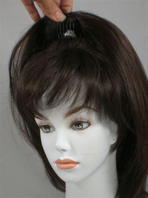 hairdos with wiglets human hair pull through wiglet filler enhancer piece up