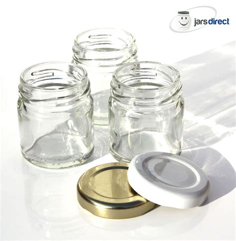 Clear Glass Kitchen Canisters 50 X 1 5oz 43ml Glass Mini Jars Suitable For Small