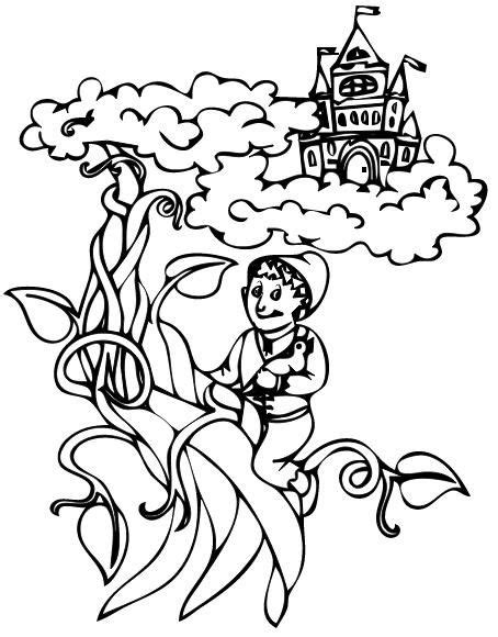 jacks of color and the beanstalk coloring page coloring pages
