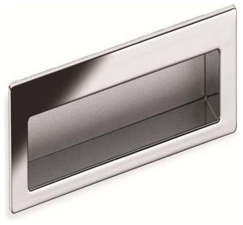 Modern Drawer Pull by Schwinn Hardware Modern Flush Pull 4 Inch Polished Chrome