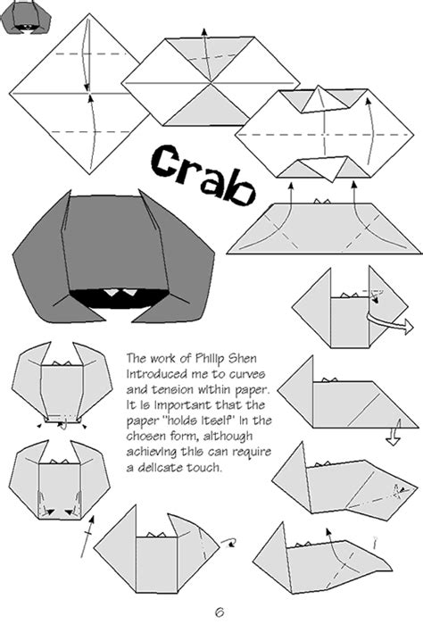 How To Make An Origami Crab - origami crab diagram