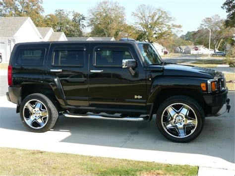 hummer side view hummer h3 suv sport utility black side view pinkys pins