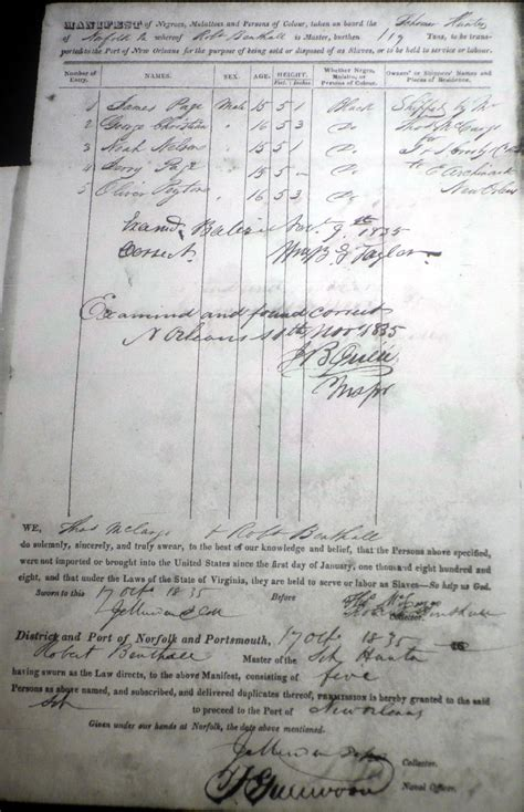 Records Louisiana Ship Manifests Filed At New Orleans 1807 1860