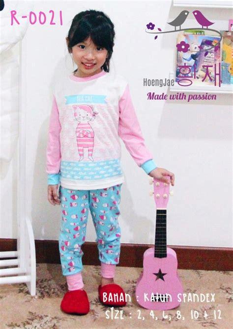 Baju Import Lucu jual baju piyama anak perempuan model korea umur 3 4 5 6 7 8 tahun quality
