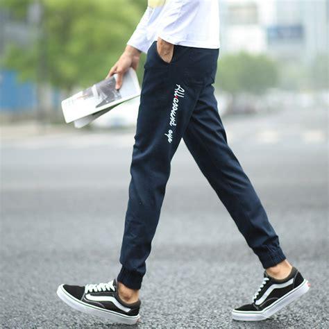 2015 japanese style casual jogger embroidery fashion quality plus size khaki