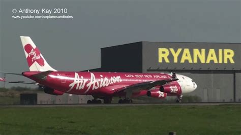 airasia london air asia x a340 stansted youtube