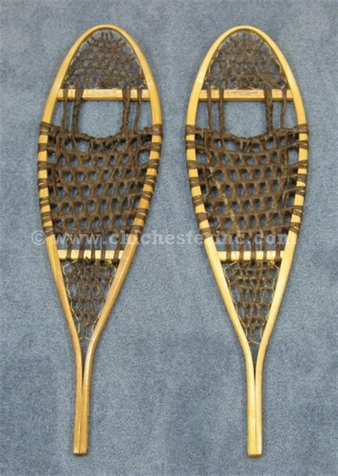 snow shoes wooden snowshoes