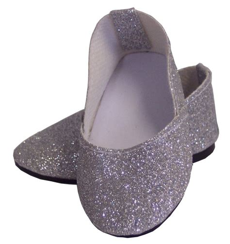 clothes and shoes silver sparkle princess shoes made for 18 quot american