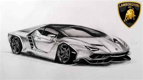 Lamborghini Drawings Drawing New Lamborghini Centenario Lp770 4