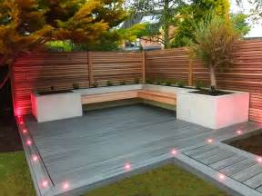 maple wood fencing  raised beds  slate grey