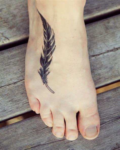 simple tattoo ankle simple feather ink black foot tattoo tattooimages biz