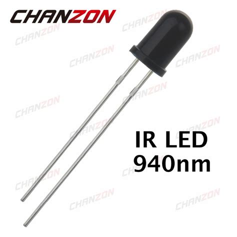 Diode 940nm Black 5mm Infrared Receiver 100pcs 5mm ir receiver diode emitter 940nm infrared receiving led bulb 20ma 5mm led light