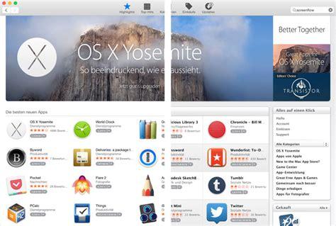 layout itunes app store mac app store mit yosemite design itunes zeigt wieder