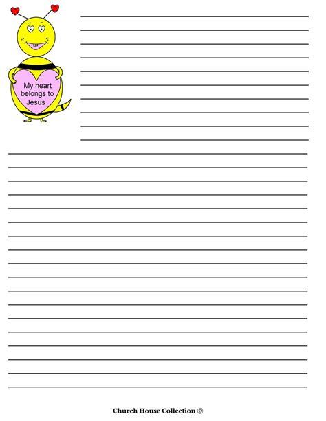 bee writing paper my belongs to jesus sunday school lesson