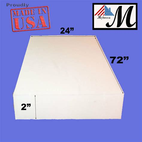 Upholstery Foam Blocks by 2 Quot X 24 Quot X 72 Quot Regular Upholstery Foam Padding Cushion