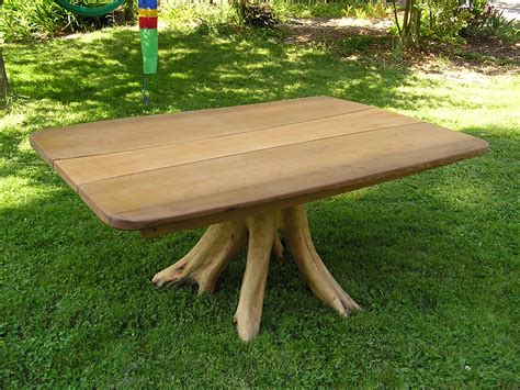 Table Tree by Tree Root Table Cedar Sustainable Woodwork