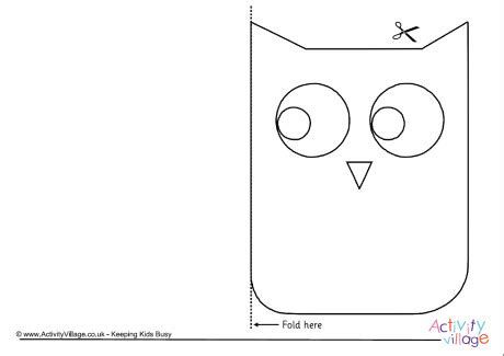 owl card template free owl card template