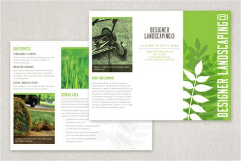 designer landscaping brochure template inkd