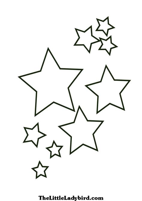 coloring page stars best photos of little stars printable free printable