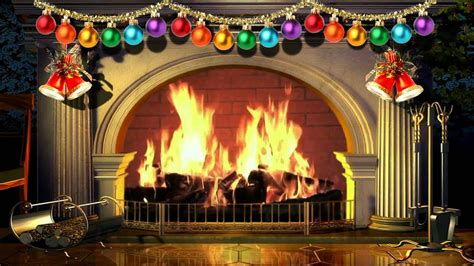 virtual christmas fireplace  background video p hd  minute loop youtube