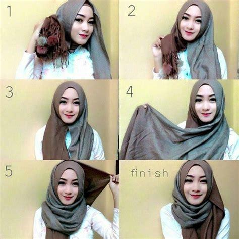 tutorial pashmina simple tanpa ninja tutorial hijab modern tanpa ninja terbaru 2016