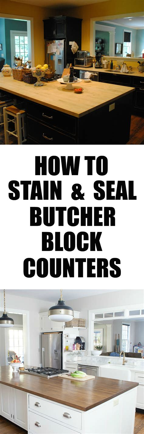 Can You Stain Butcher Block Countertops by How To Stain And Seal Butcher Block Counters The