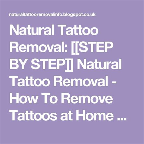 tattoo removal at home ingredients 25 best ideas about removal on